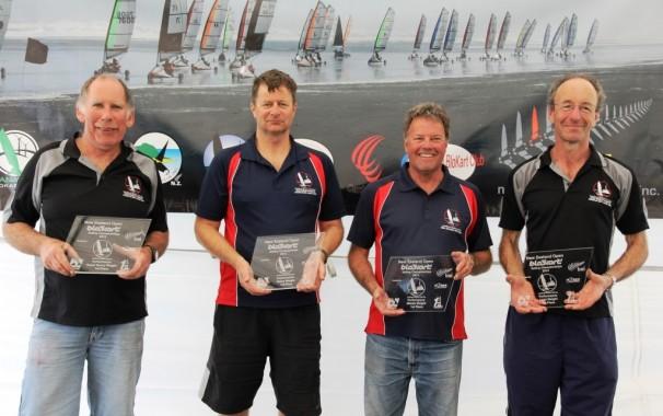 From left, Wayne Osborne, Russell Harry, Graham Ingall and David Heilbron.