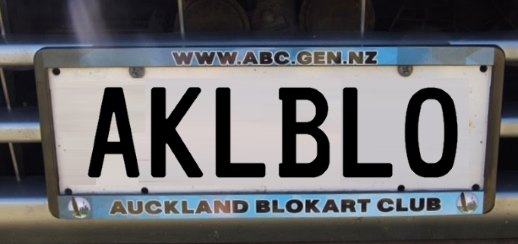 ABC Number Plate Surround